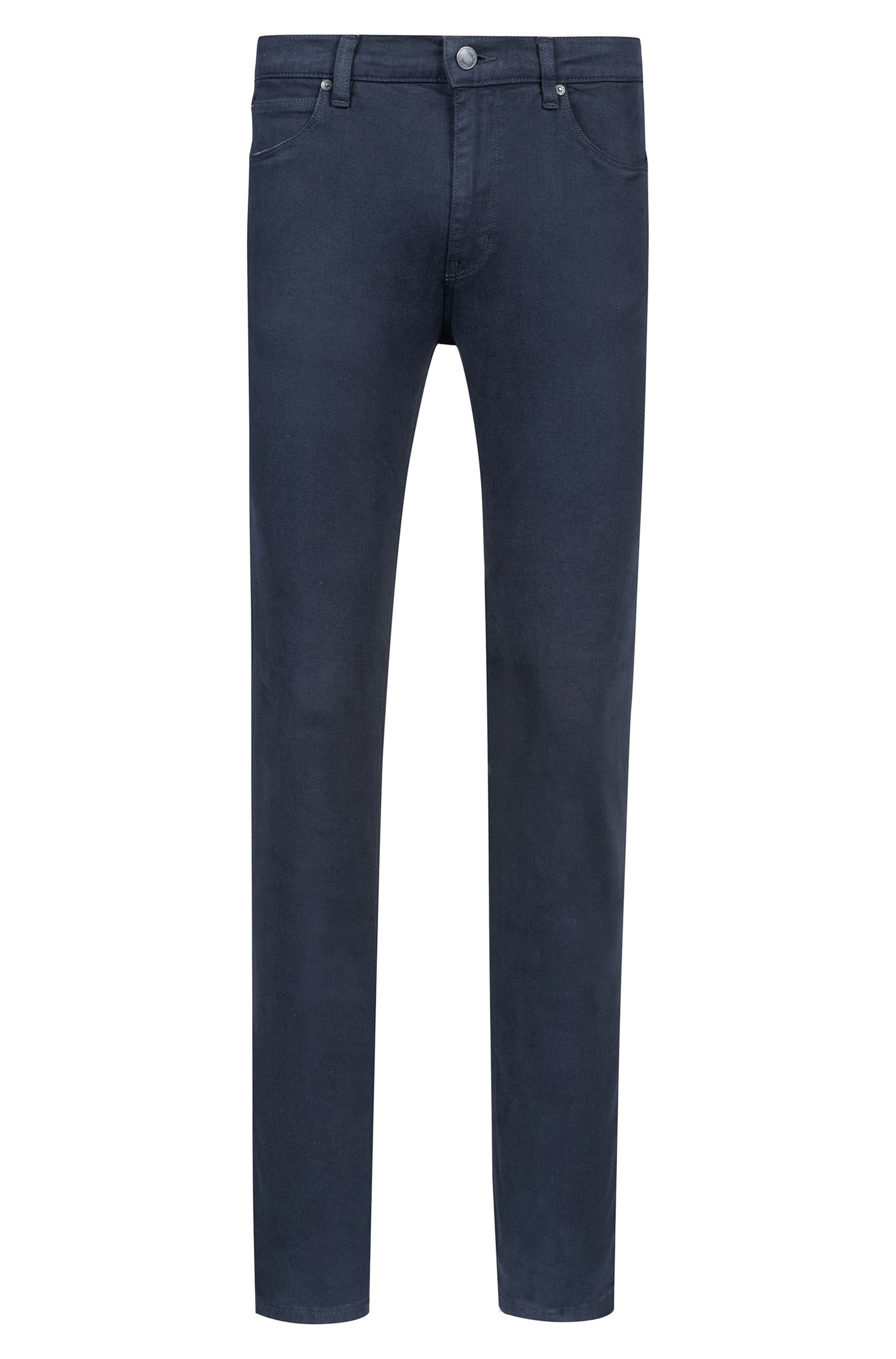 Skinny-fit jeans in dark-blue stretch denim, Dark Blue