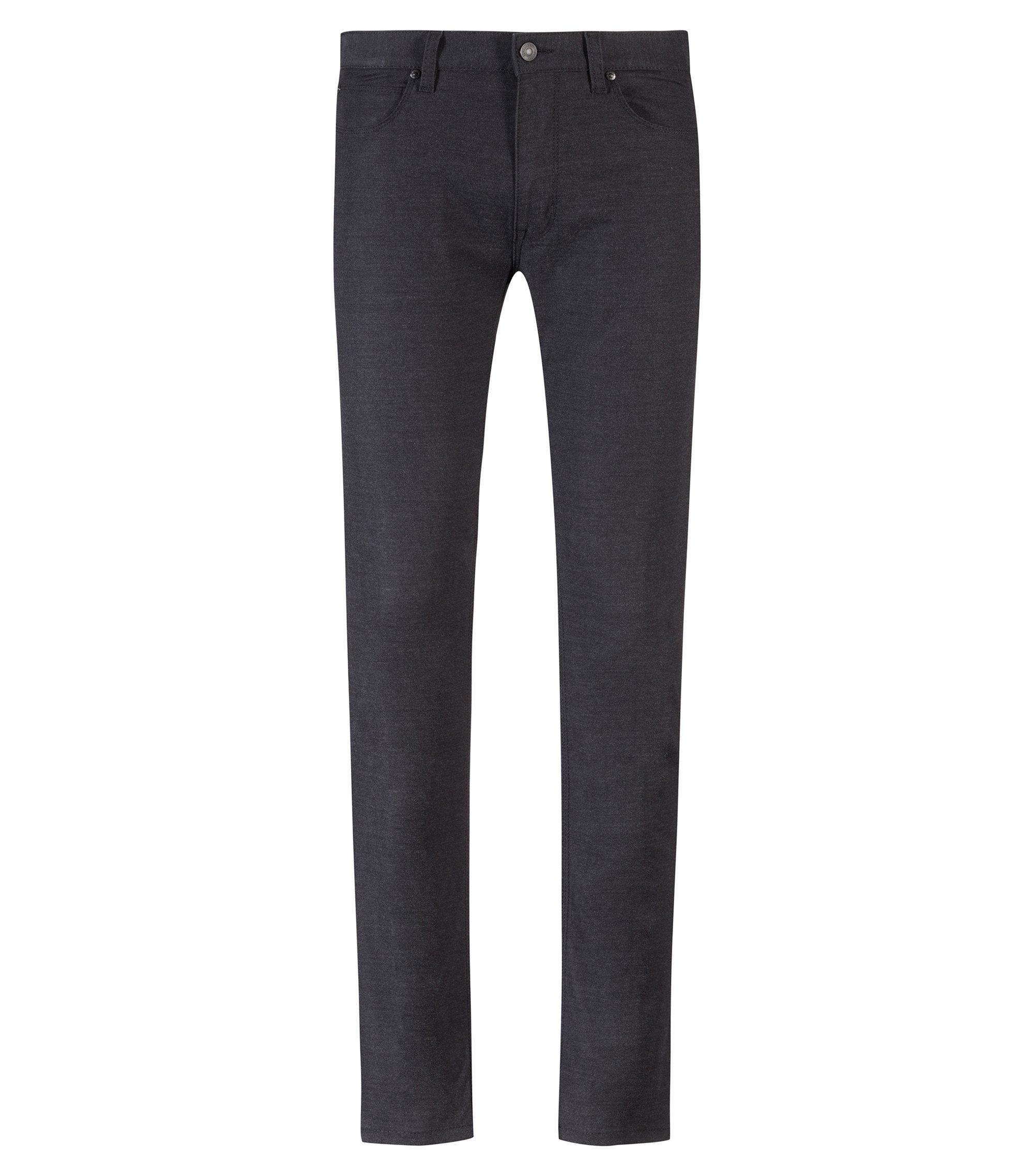 Skinny-fit jeans in black stretch denim, Black