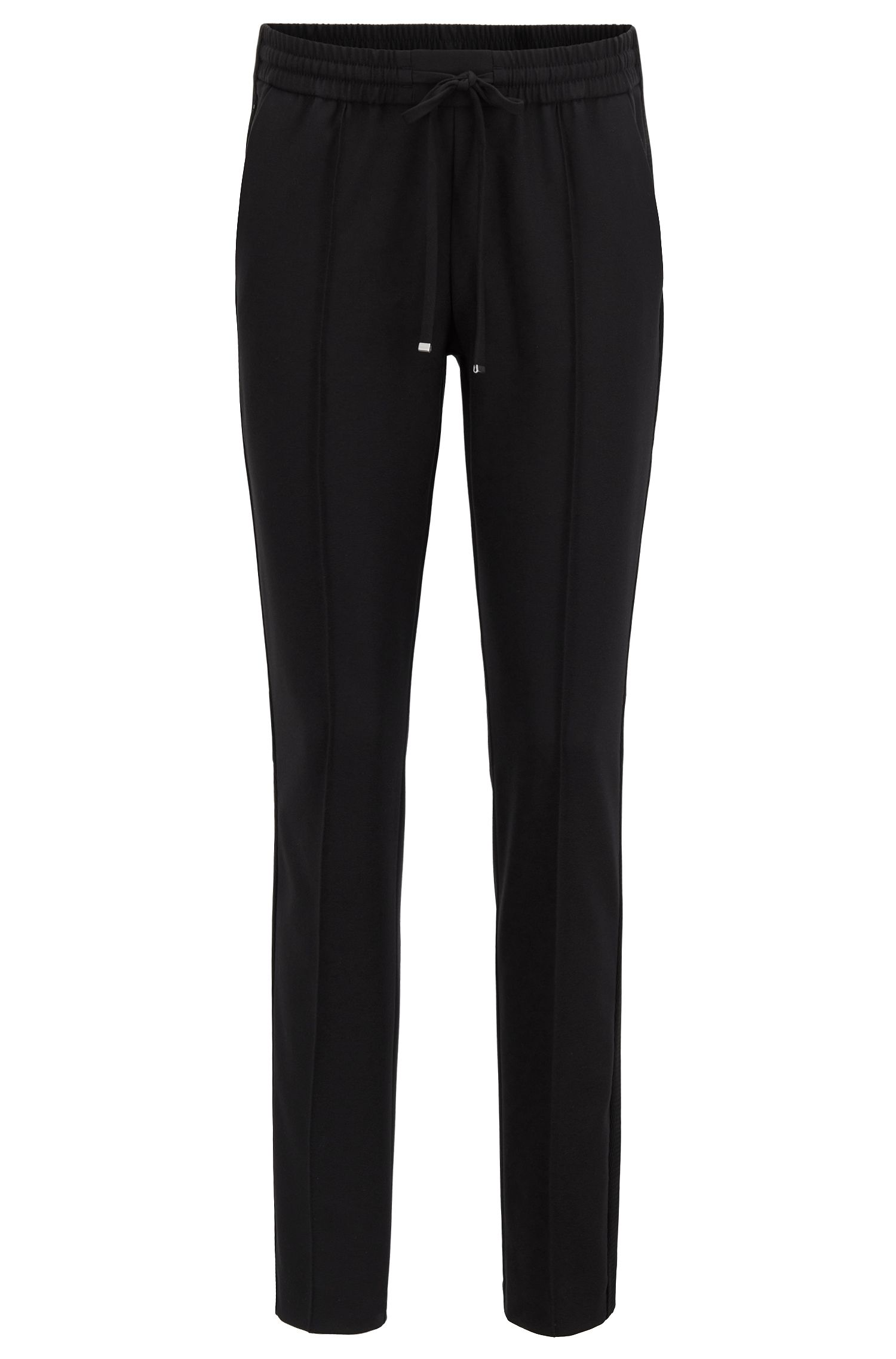 Relaxed-fit pants in stretch fabric with cropped leg