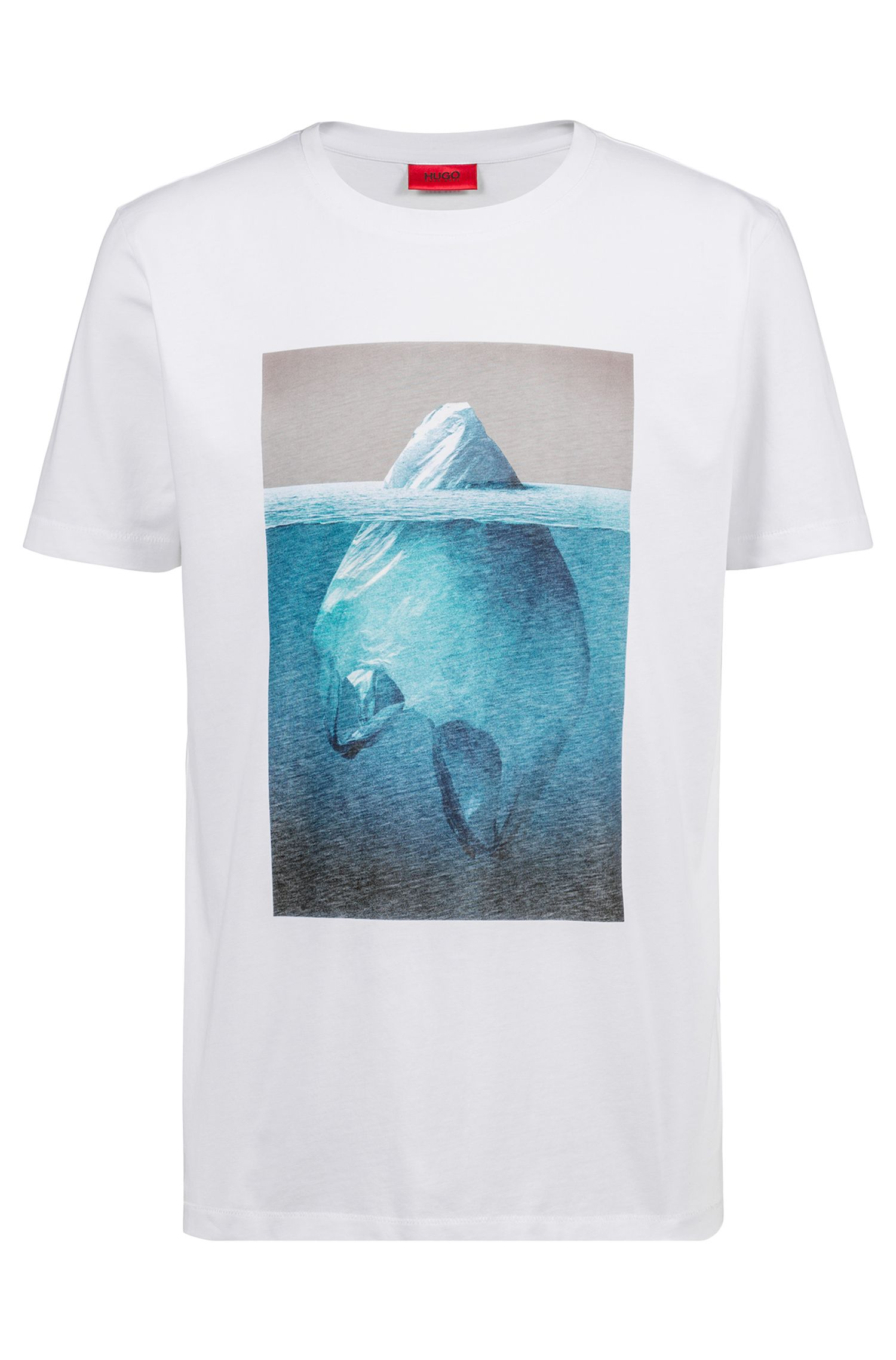 Relaxed-fit cotton T-shirt with iceberg graphic