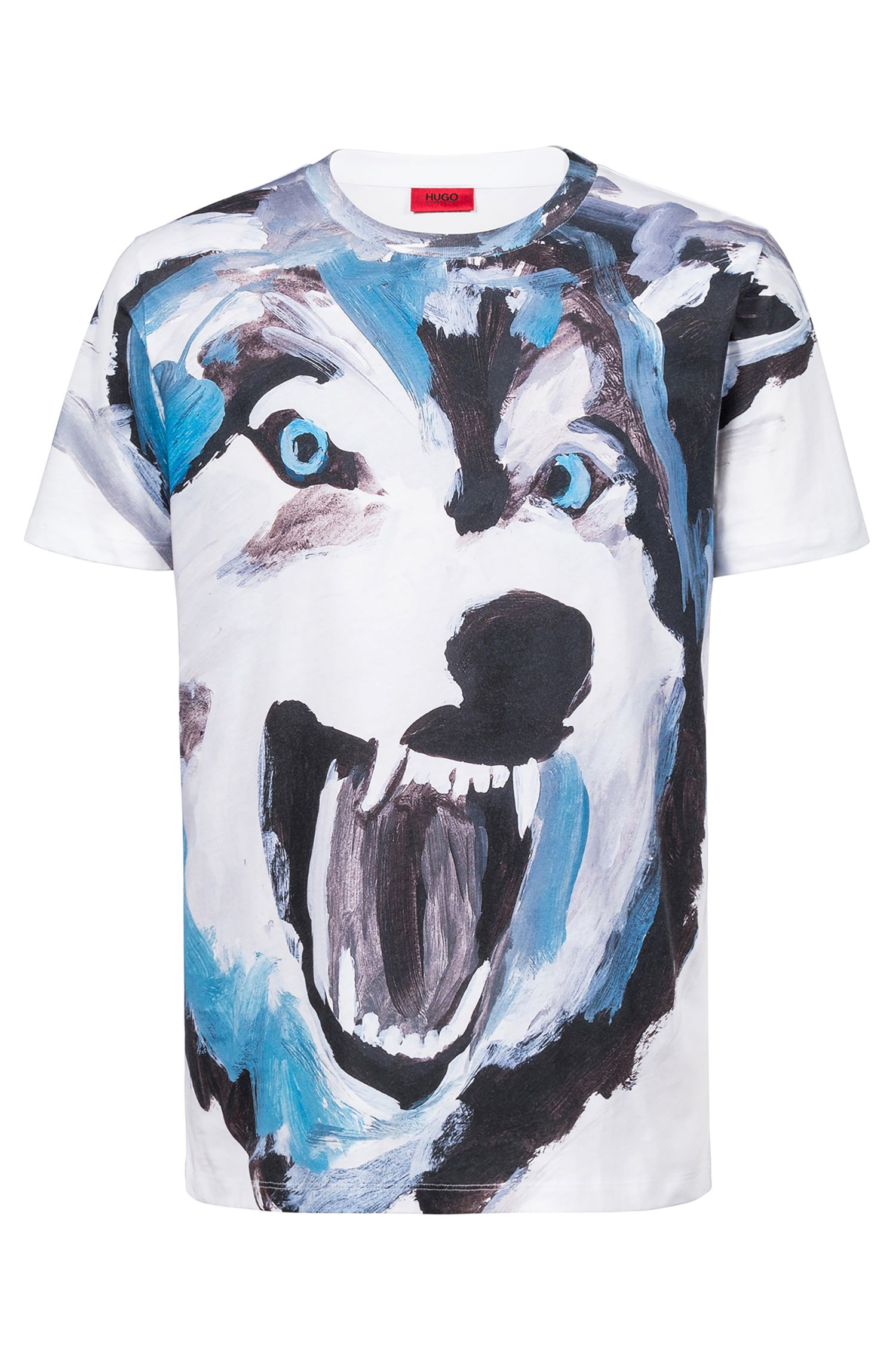 Relaxed-fit T-shirt with statement artwork, White