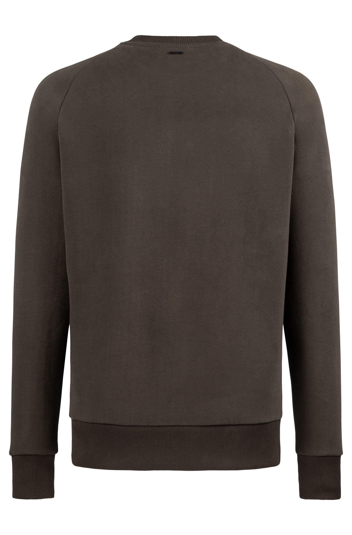 Oversized-fit fleece sweatshirt with large chest pocket, Dark Green