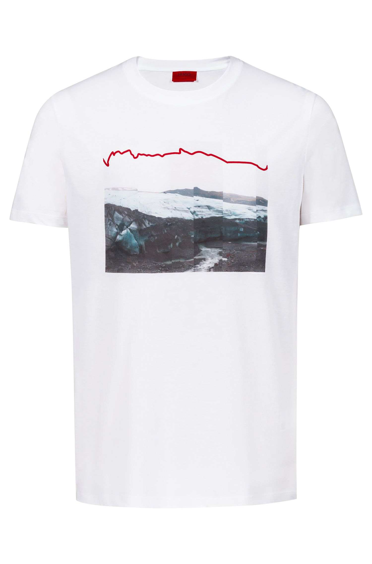 Unisex T-shirt in cotton with collection artwork, White