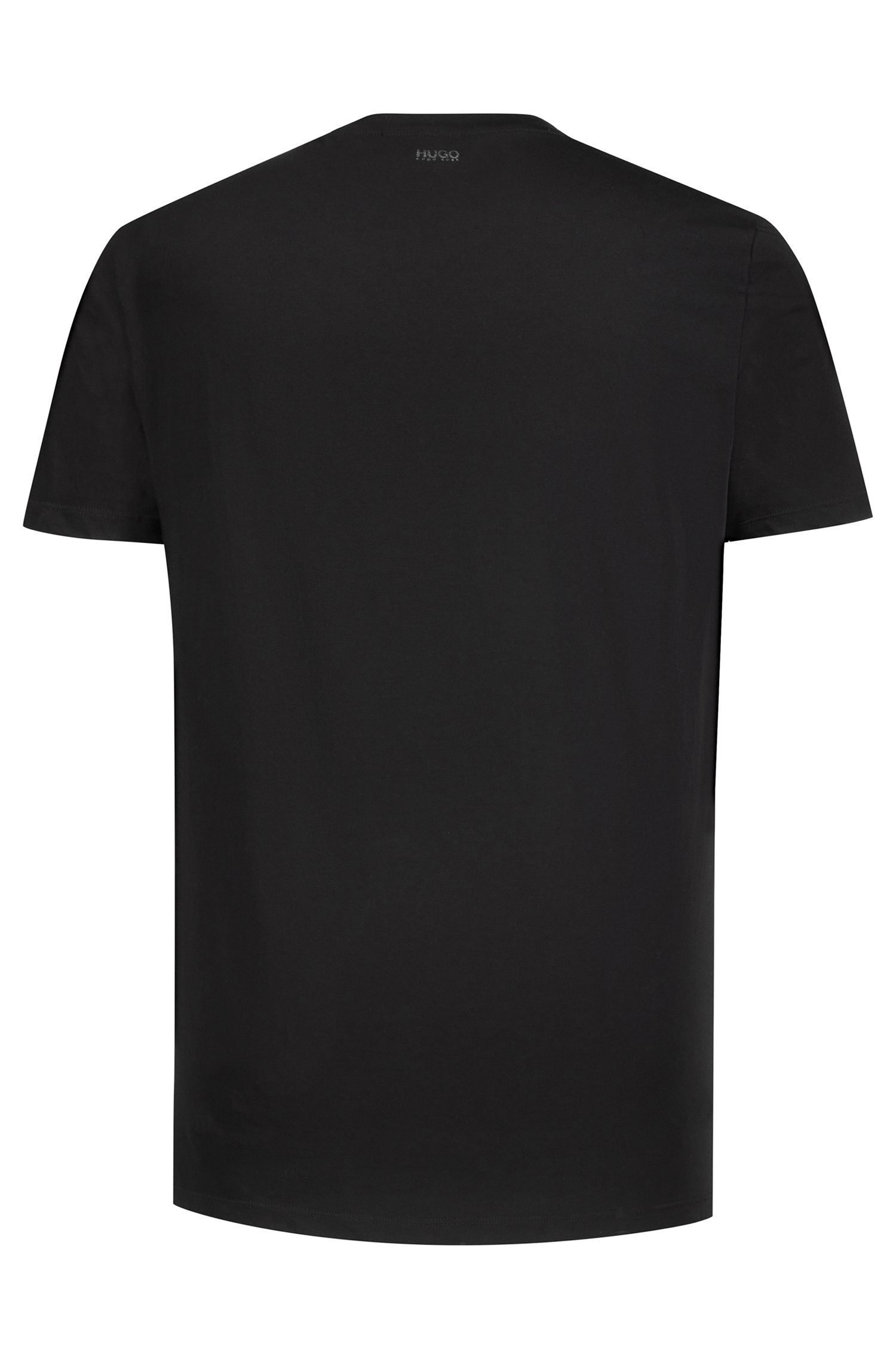Single-jersey T-shirt with printed metallic slogan