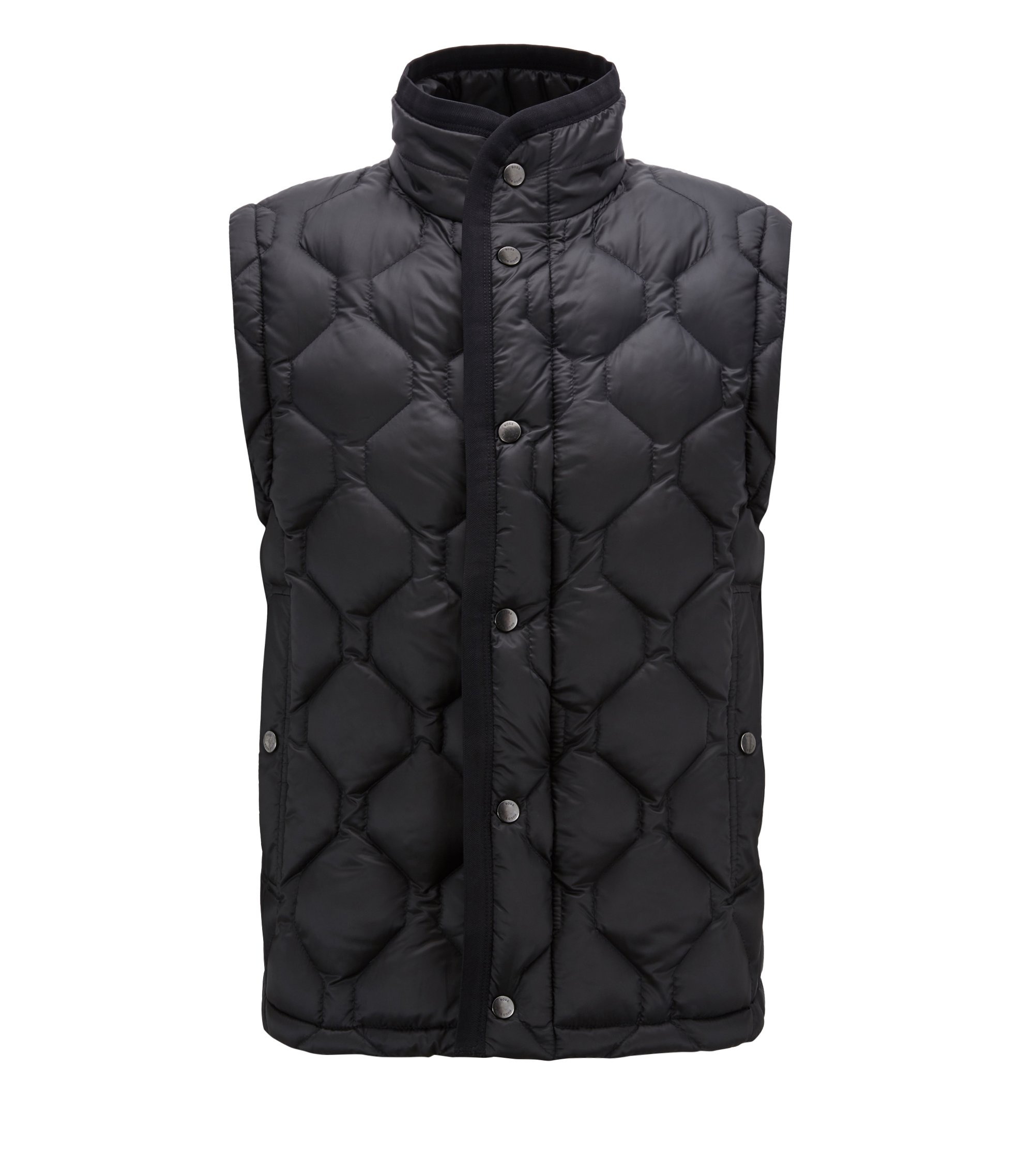 Regular-fit down-filled gilet with water-repellent outer, Open Blue