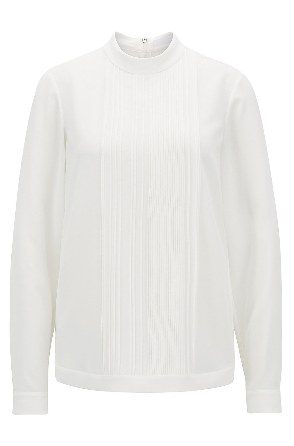 Affordable Online Really Cheap Lightweight top in stretch crepe with pleated front panel BOSS Best Sale Cheap Online Nid7Ea