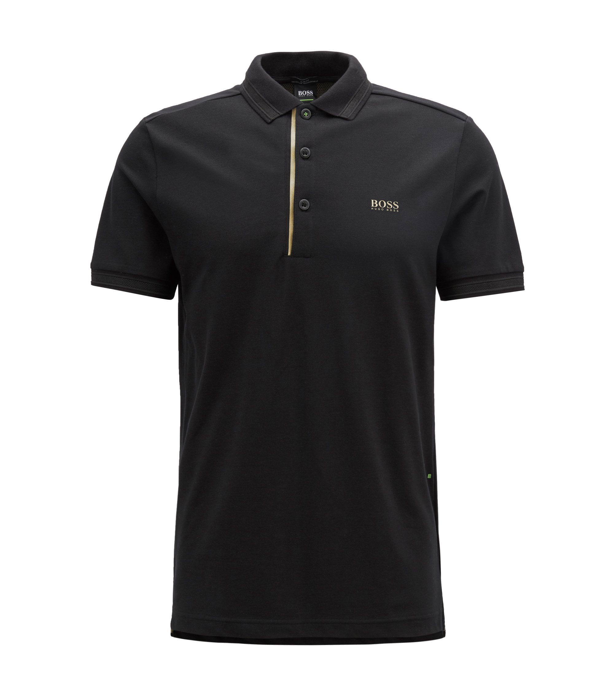 Gold Capsule slim-fit polo shirt with S.Café, Black