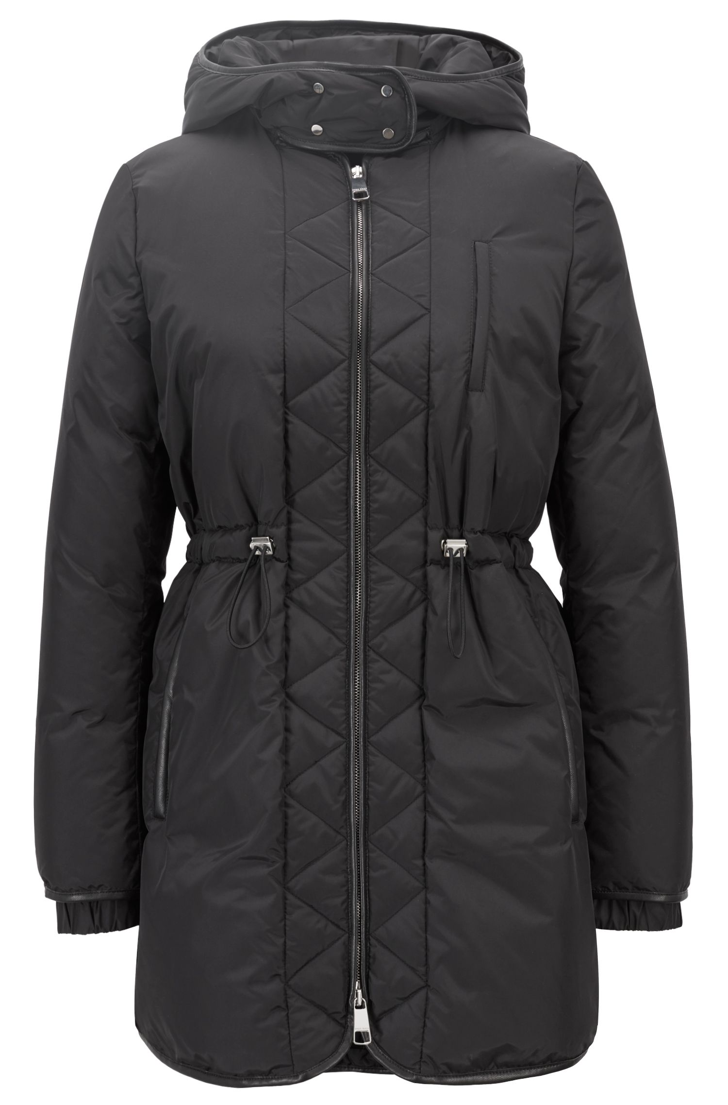 Regular-fit jacket in water-repellent technical fabric, Black
