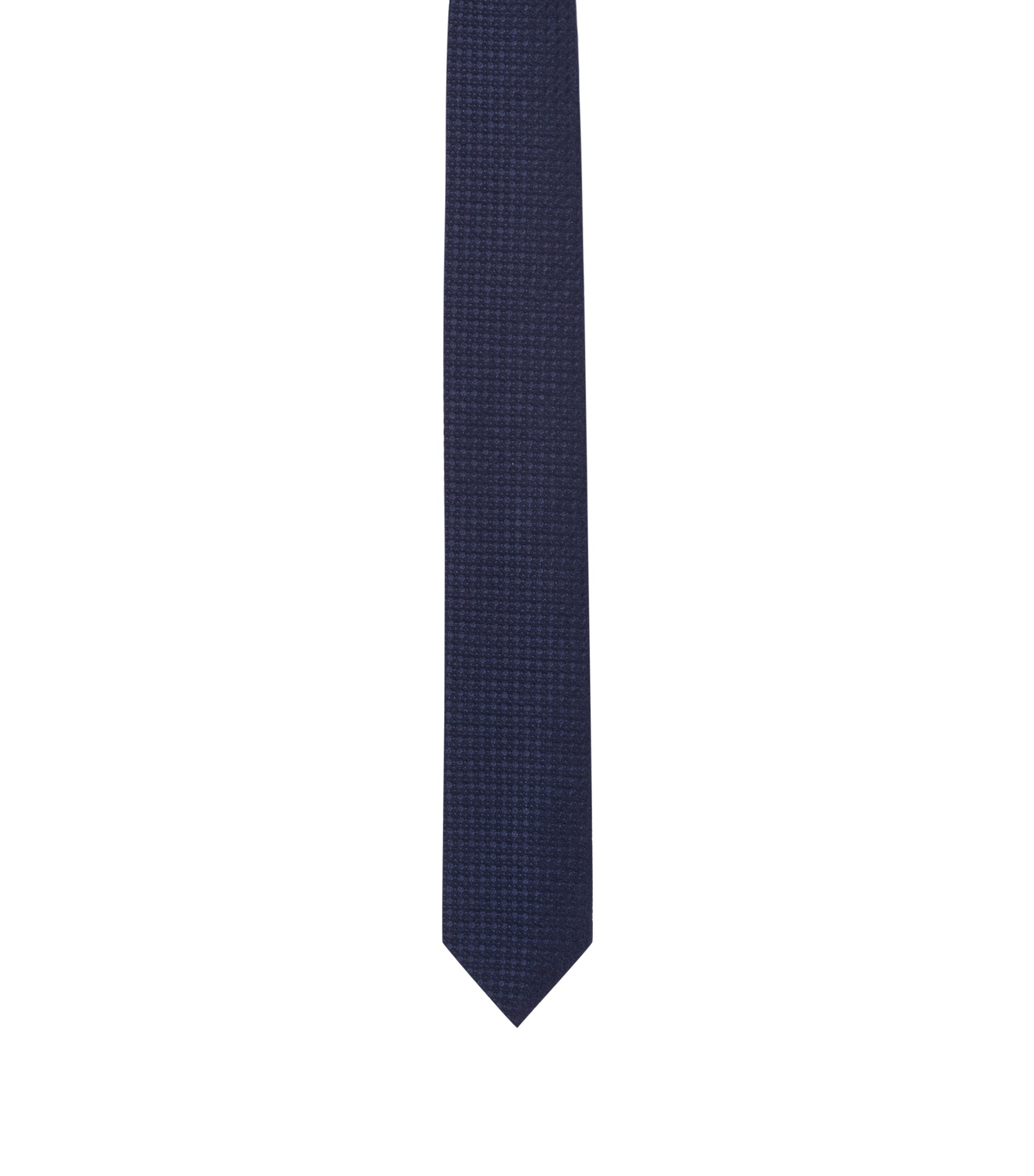 Business tie in raised jacquard, Dark Blue