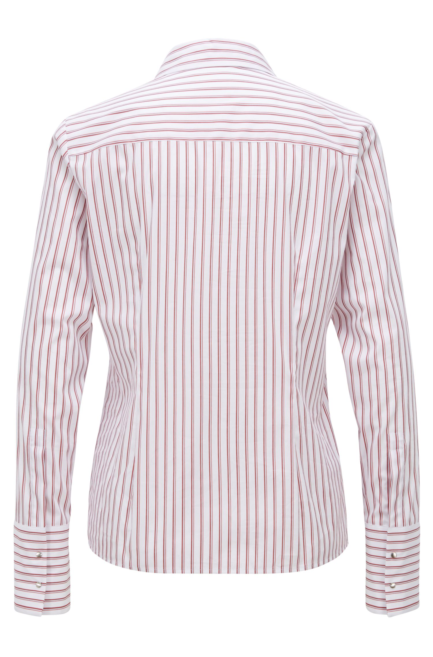 Regular-fit blouse with vertical stripe pattern, Patterned