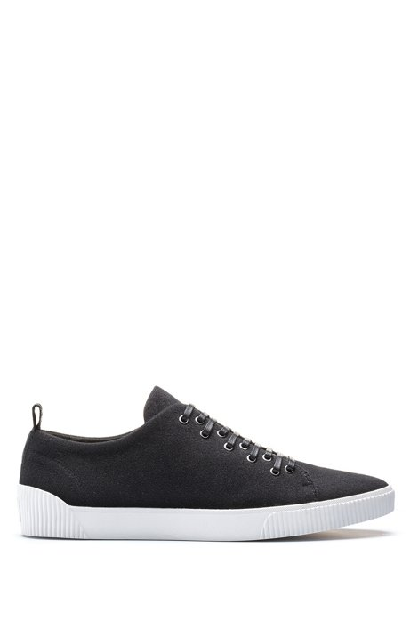 HUGO - Tennis-inspired sneakers with removable patch detailing 6e7e884e86b