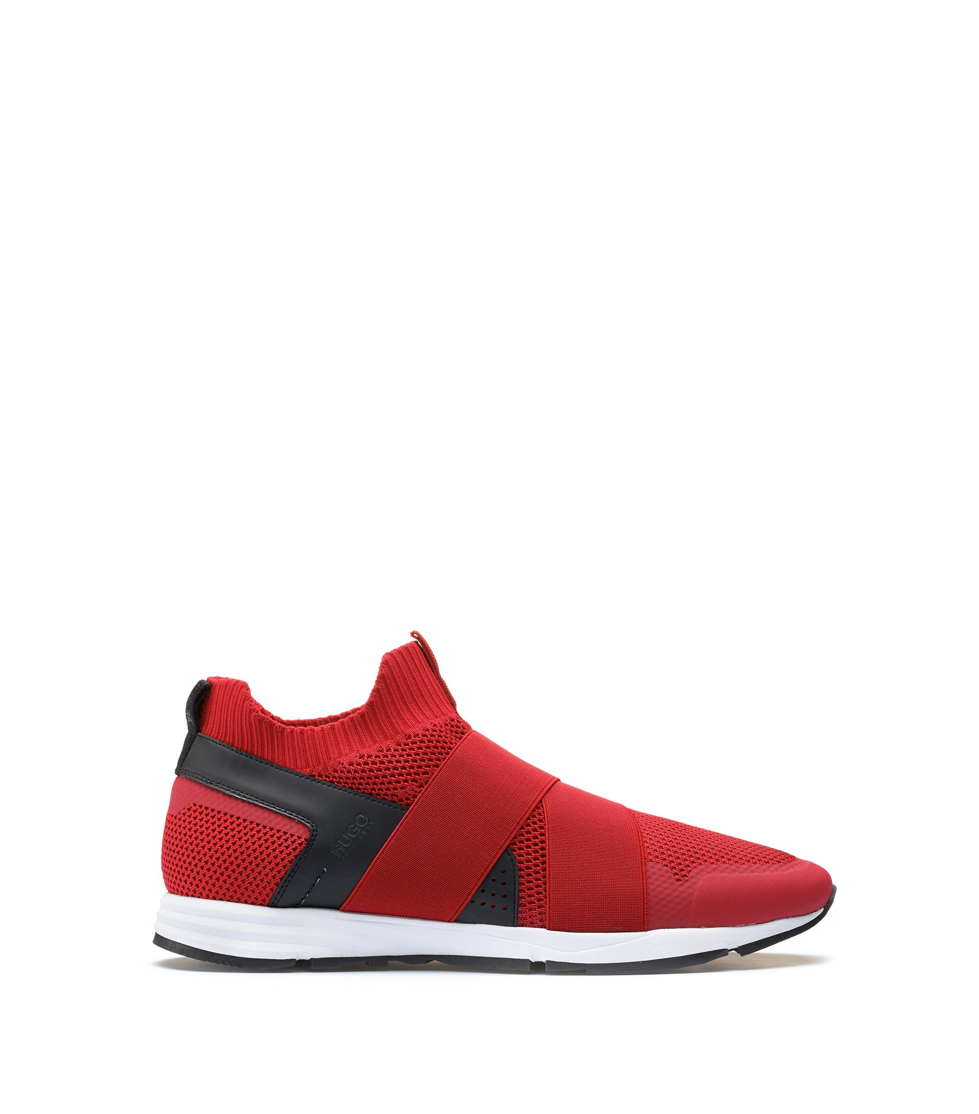 Slip-on hybrid sneakers with Vibram sole, Dark Red