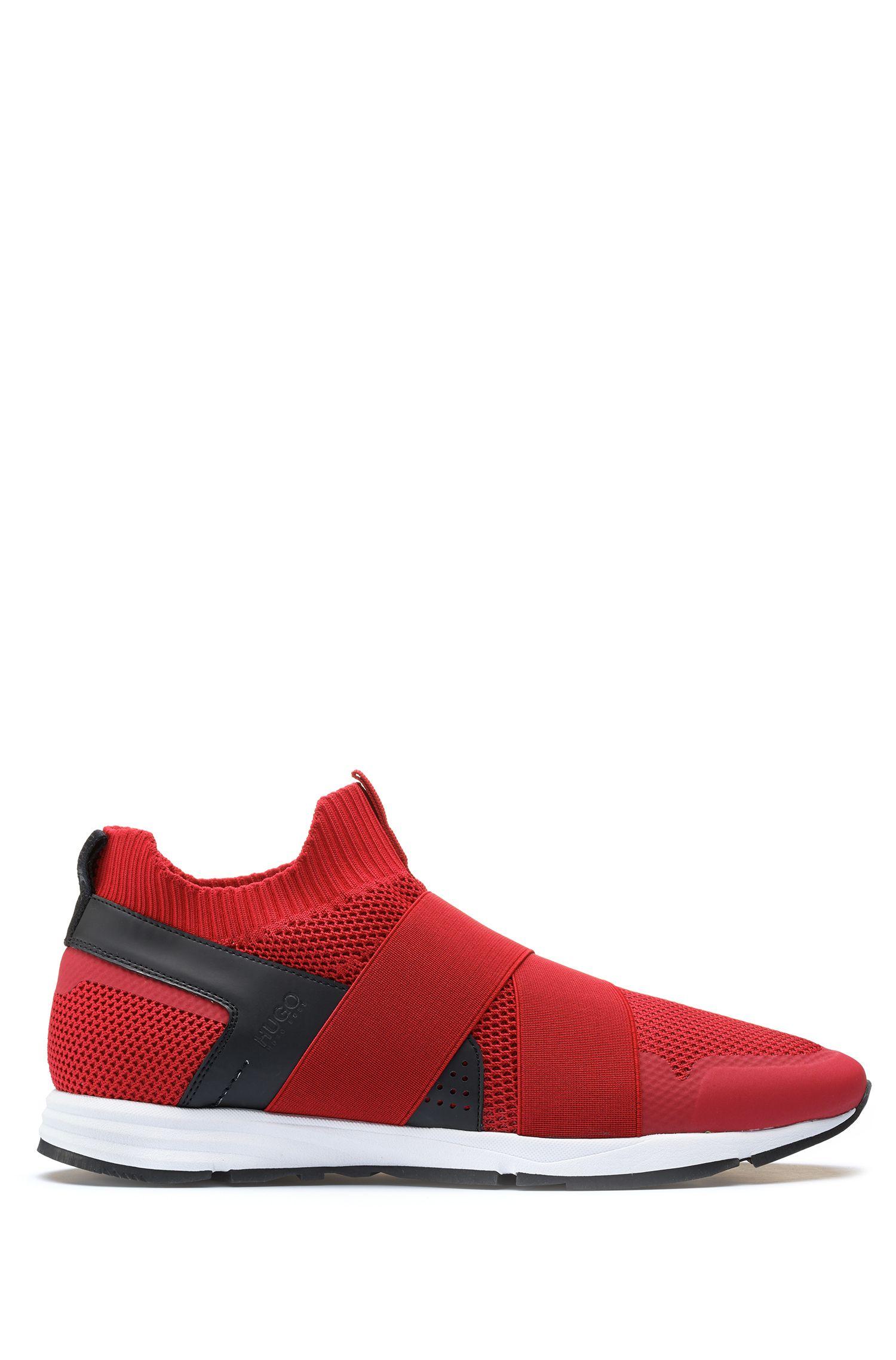 Slip-on hybrid sneakers with Vibram sole, Dark Red