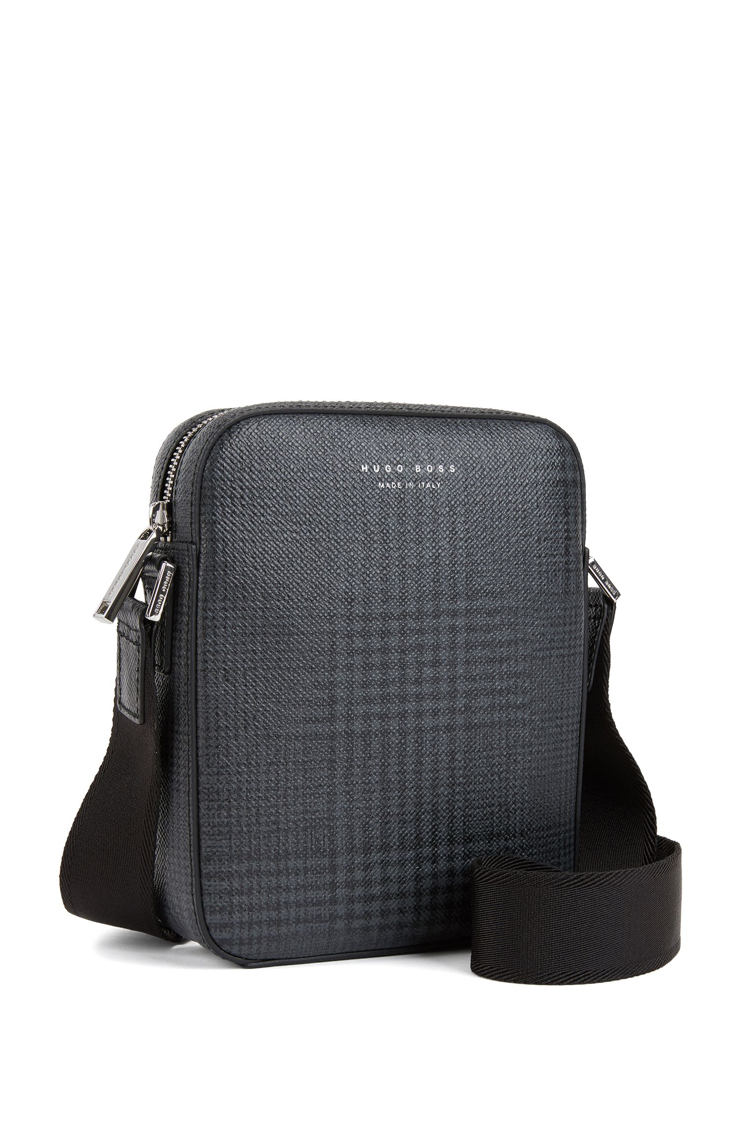 Signature Collection cross-body bag in checked calf leather, Patterned