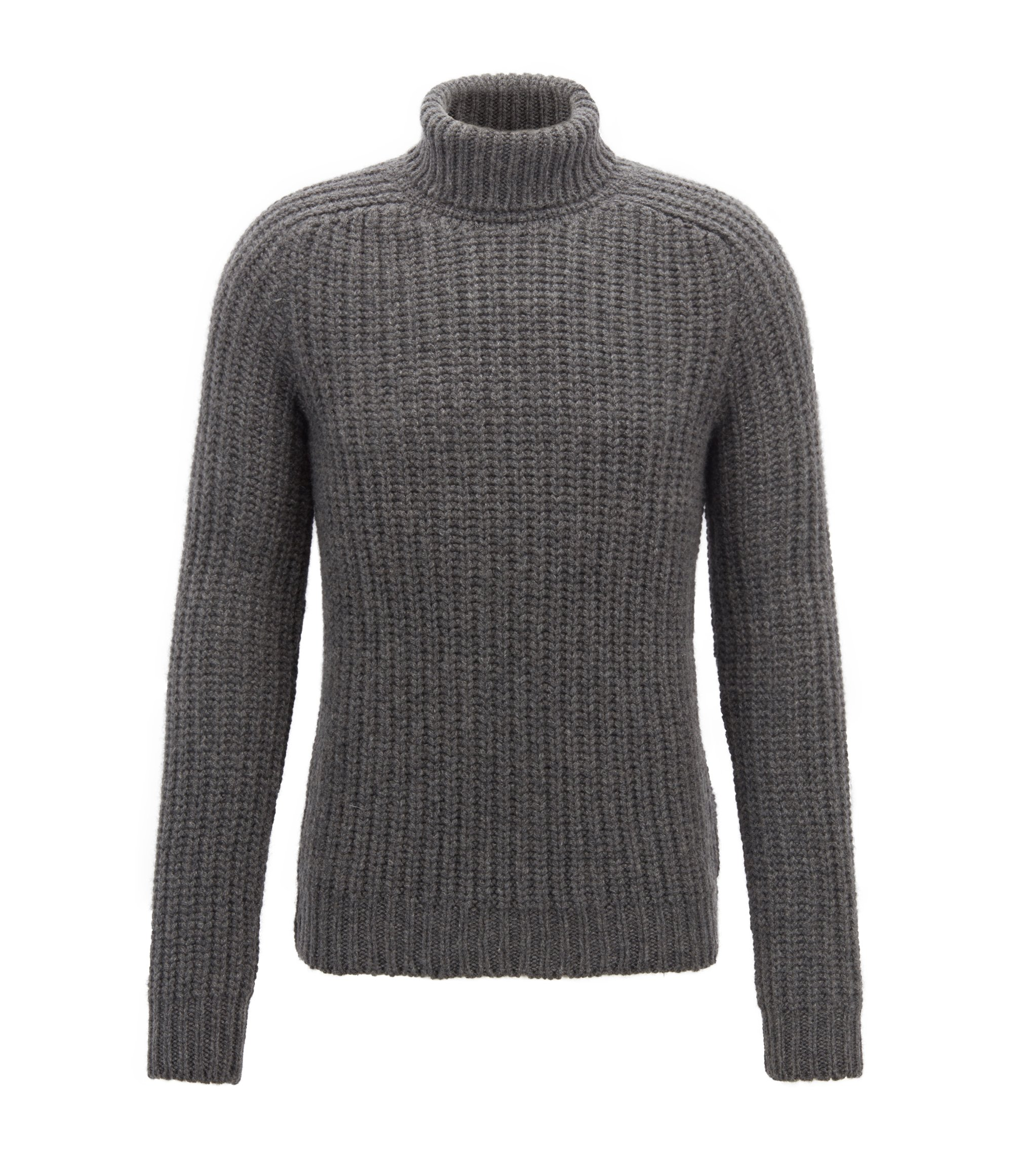 Fashion Show Capsule turtleneck sweater in cashmere, Grey