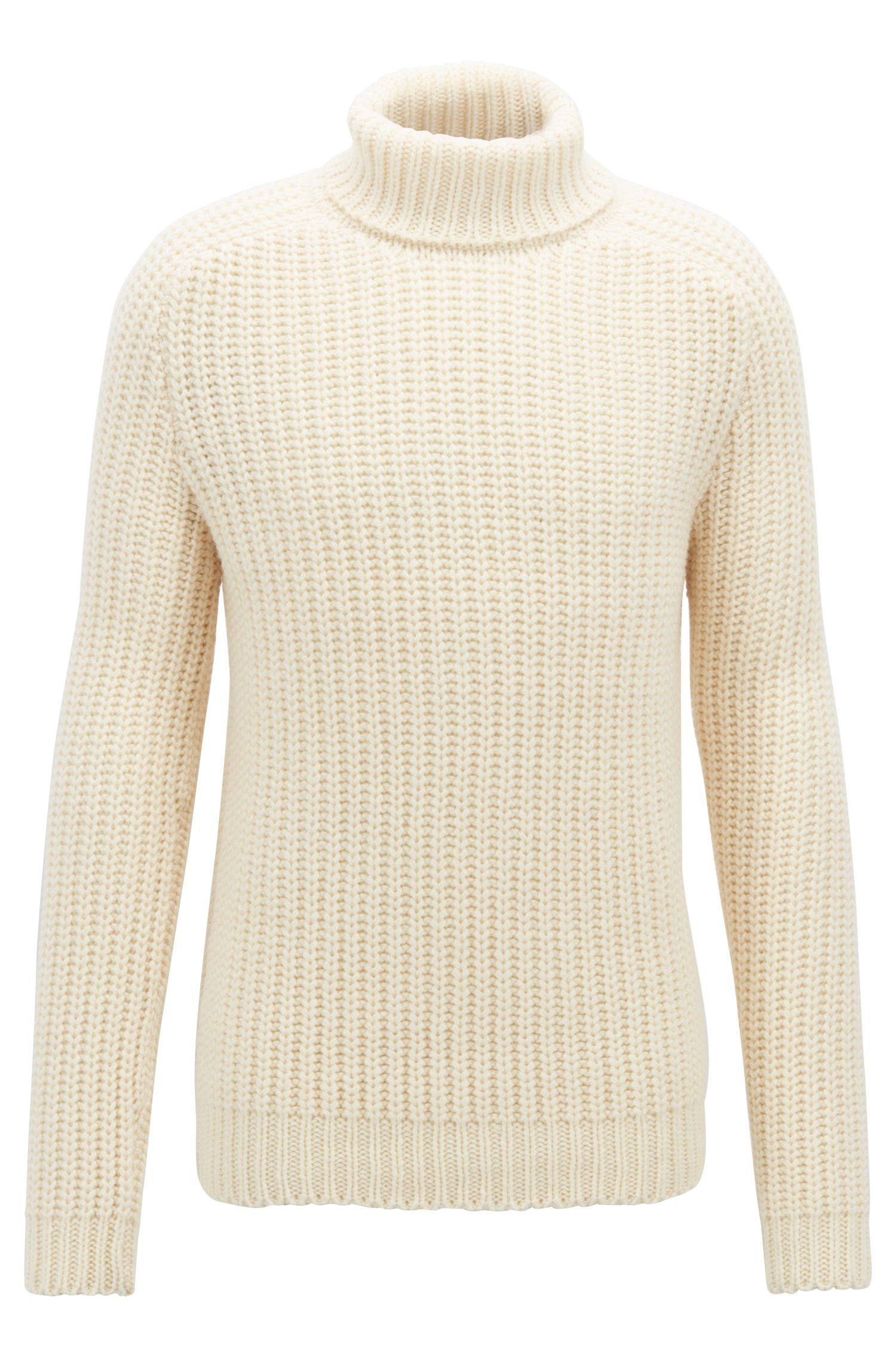 Fashion Show Capsule turtleneck sweater in cashmere, Natural