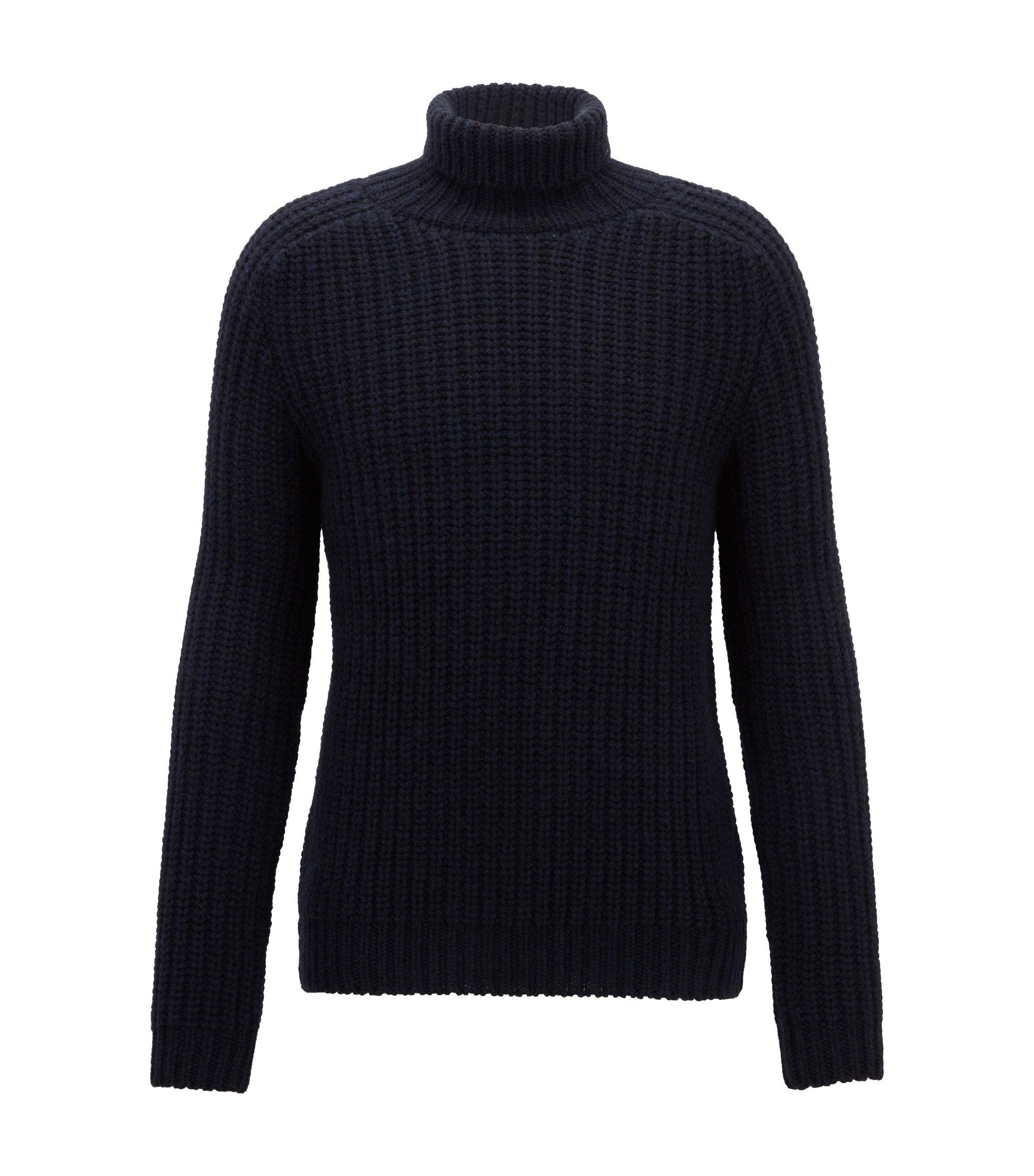 Fashion Show Capsule turtleneck sweater in cashmere, Open Blue