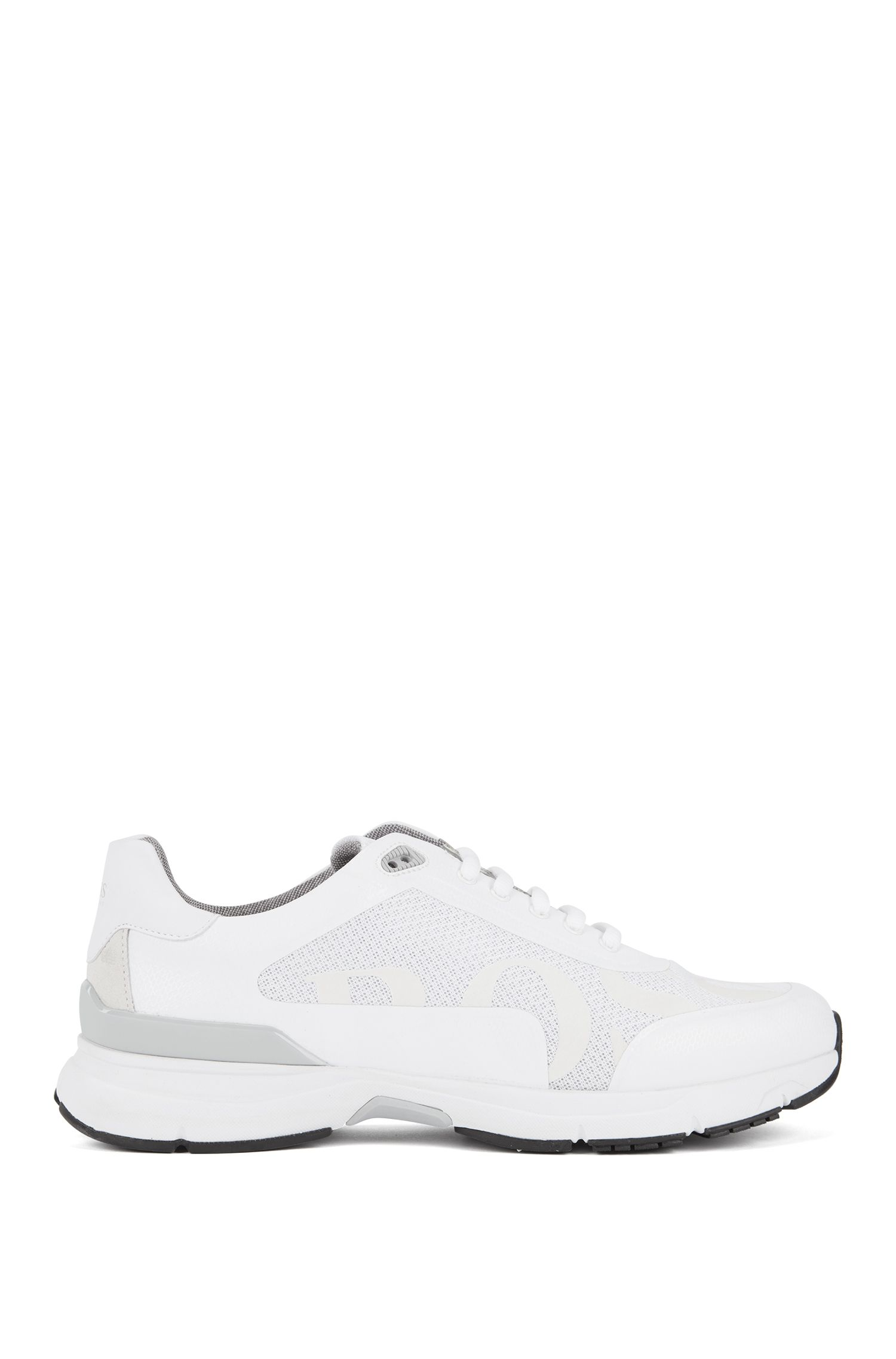 Running-inspired sneakers with bamboo-charcoal lining, White