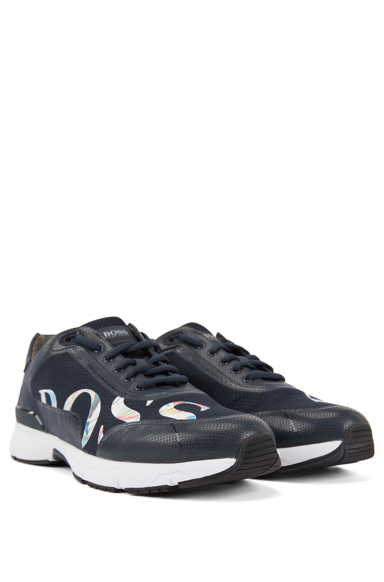 Running-inspired sneakers with bamboo-charcoal lining, Dark Blue