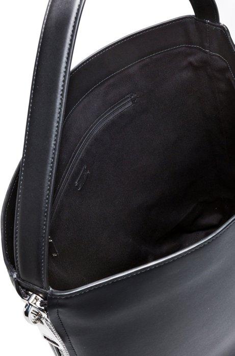 HUGO - Hobo bag in premium Italian leather with magnetic closure