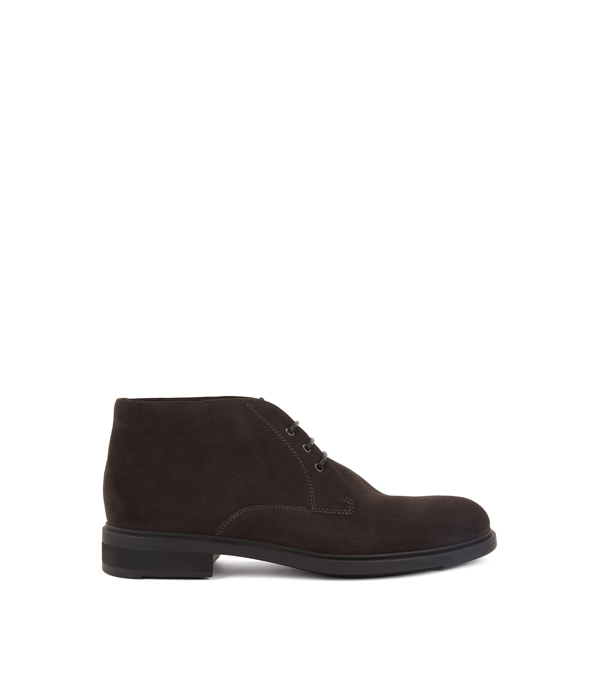 Desert boots in waterproof suede with Outlast® lining, Dark Grey