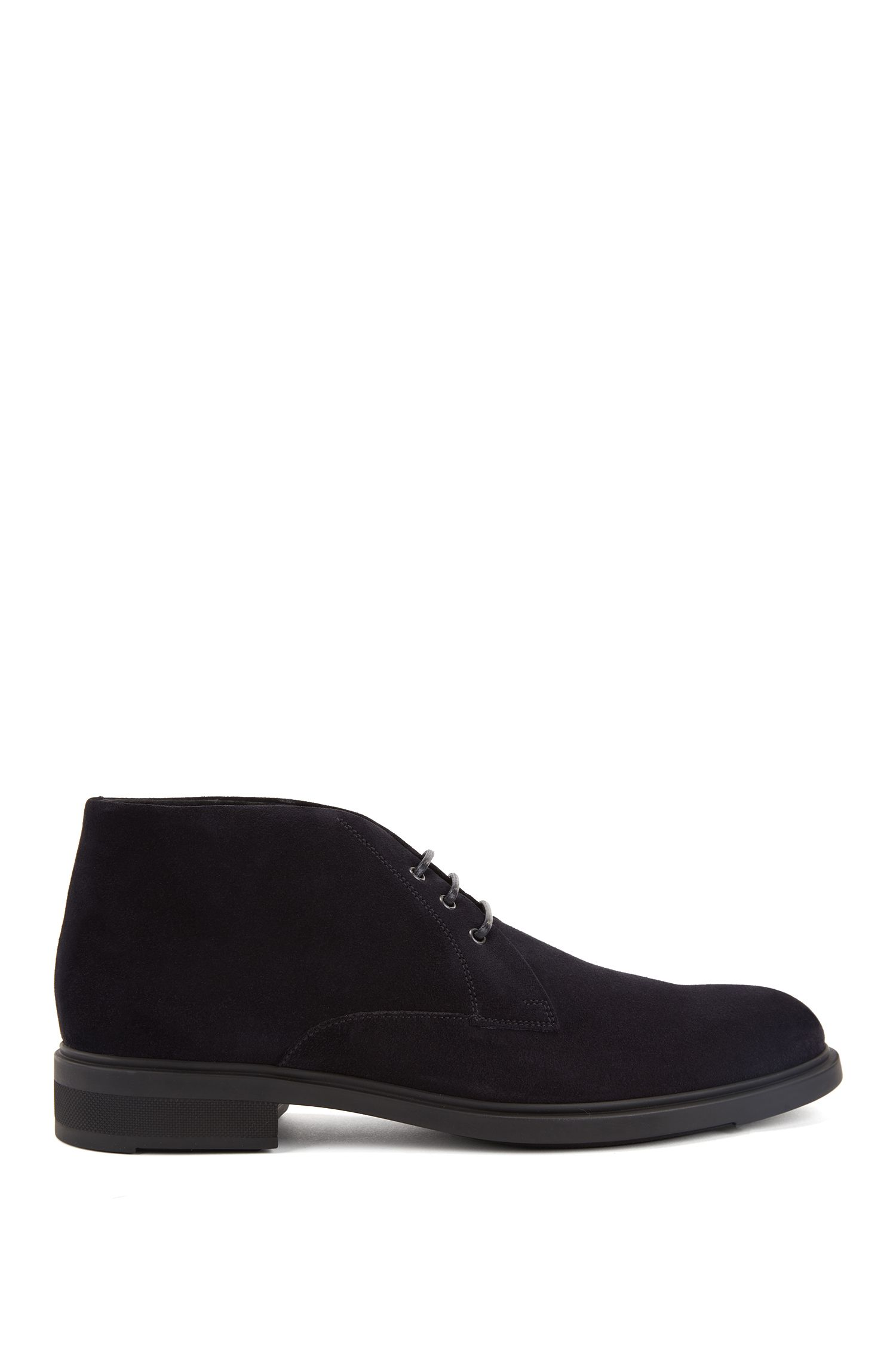 Desert boots in waterproof suede with Outlast® lining, Dark Blue