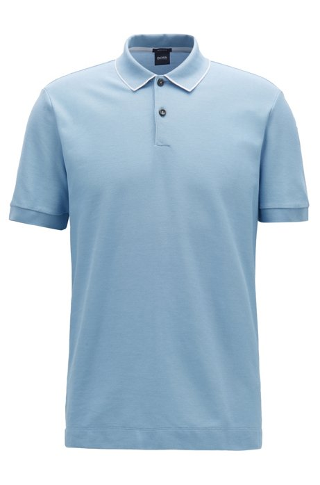 693800ca8 BOSS - Regular-fit polo shirt in two-tone honeycomb cotton