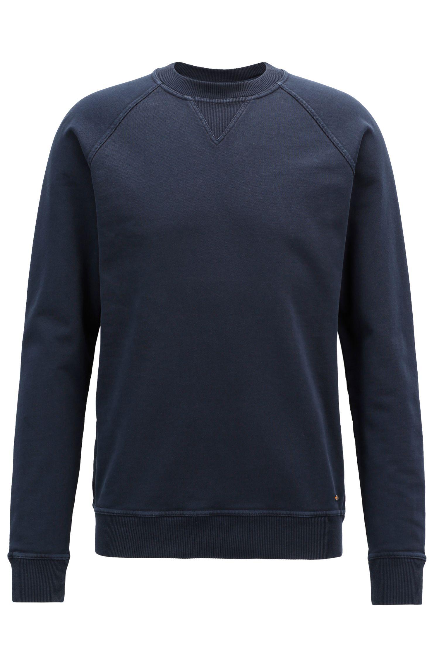 Crew-neck sweatshirt in recot²® French terry