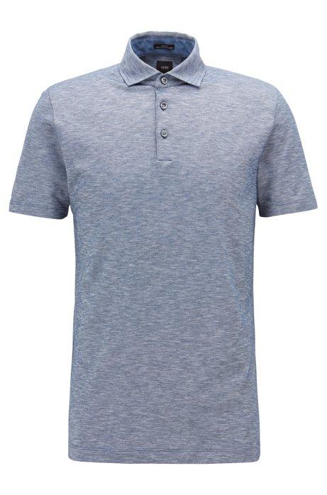 207d09d7 Slim-fit polo shirt in Italian mouliné piqué. T-Pryde ...