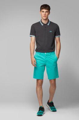 7453d9358abd6 Cotton-piqué polo shirt with logo undercollar
