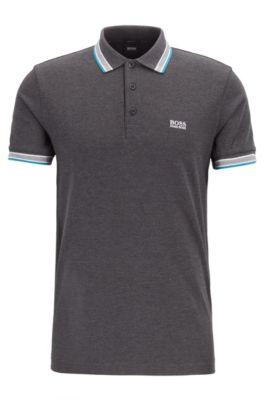 d9bee019bcf52 Cotton-piqué polo shirt with logo undercollar
