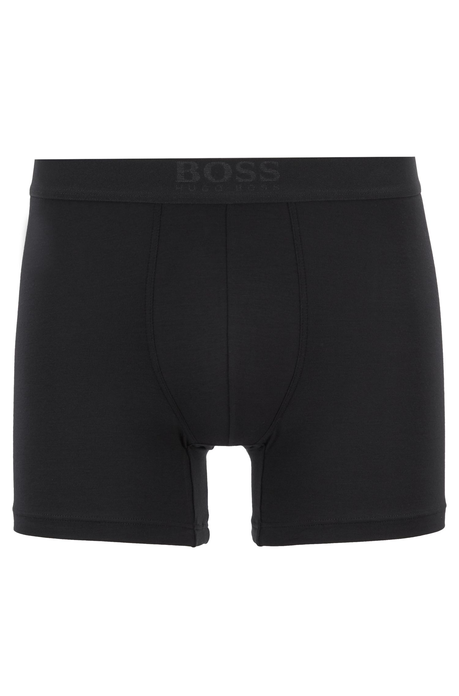 Two-pack of regular-rise boxer briefs, Black