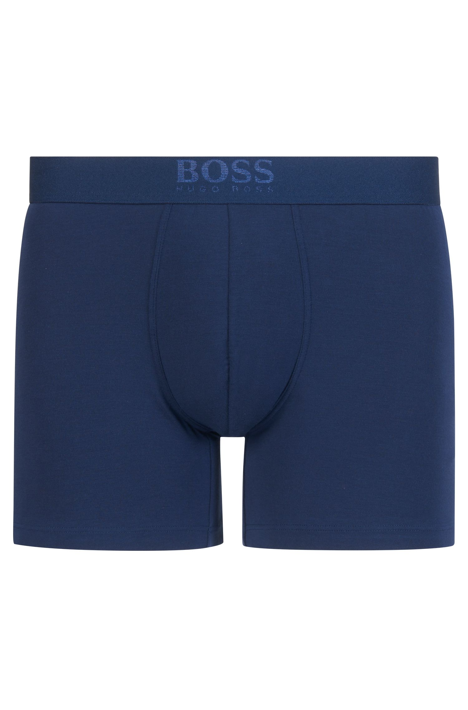 Two-pack of regular-rise boxer briefs, Dark Blue