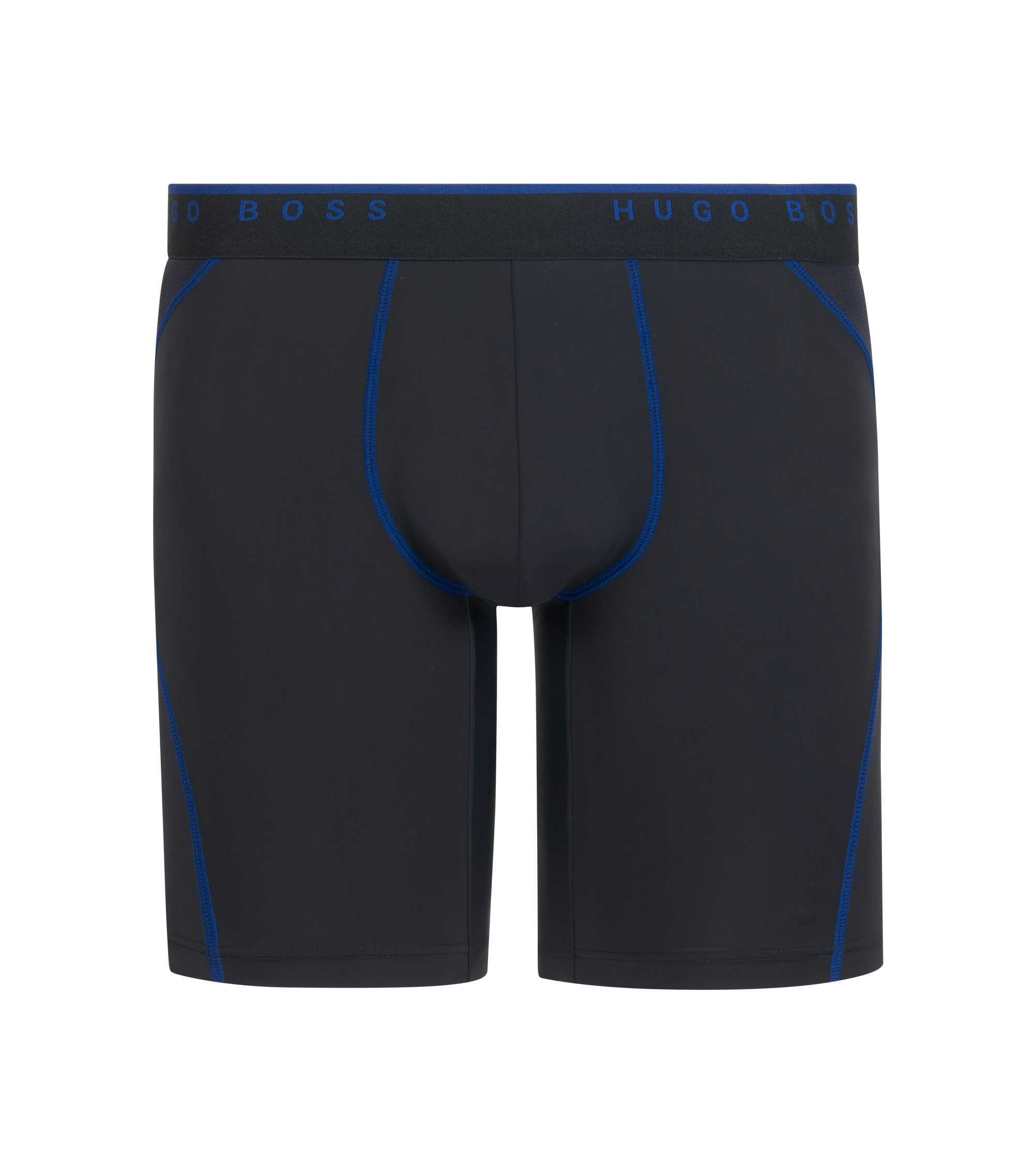 Cycling-inspired boxer briefs with logo waistband, Black