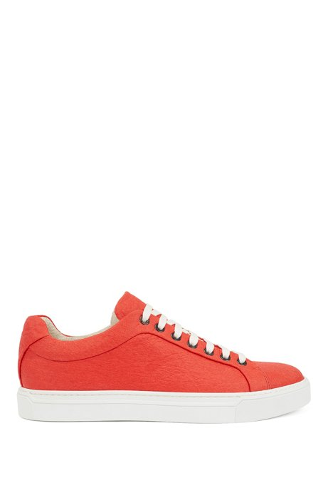 Limited-edition 100% vegan sneakers in Piñatex®, Orange