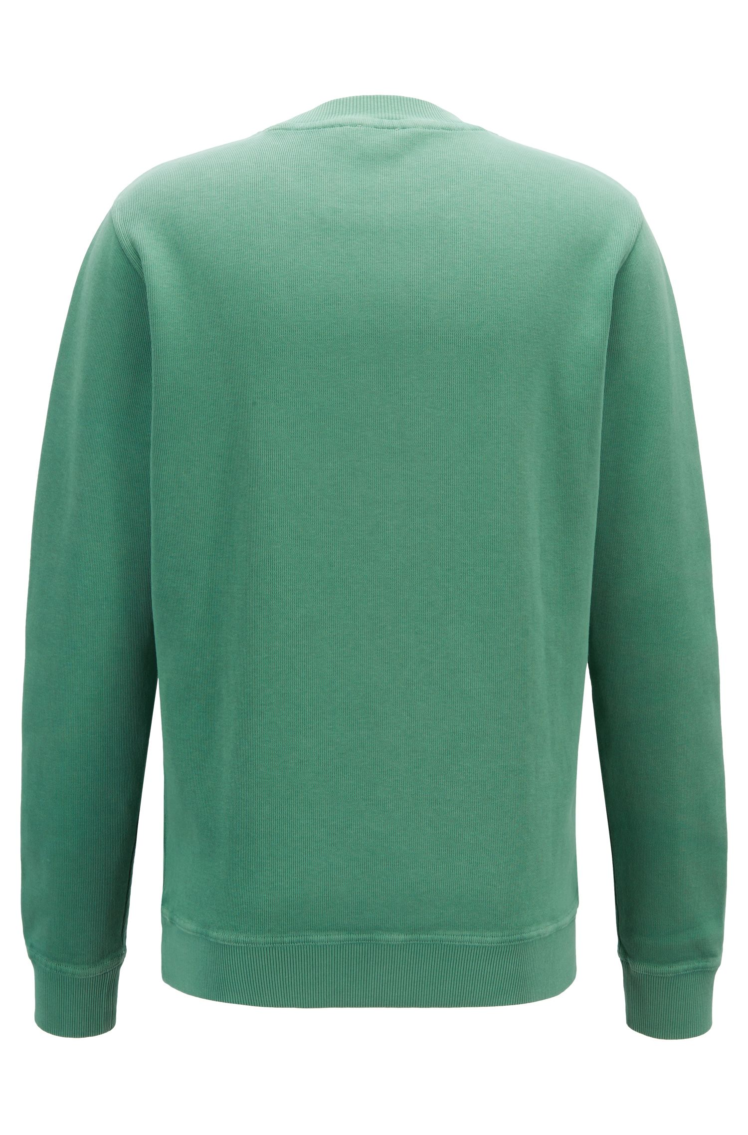 Relaxed-fit French-rib sweatshirt with transparent logo, Open Green