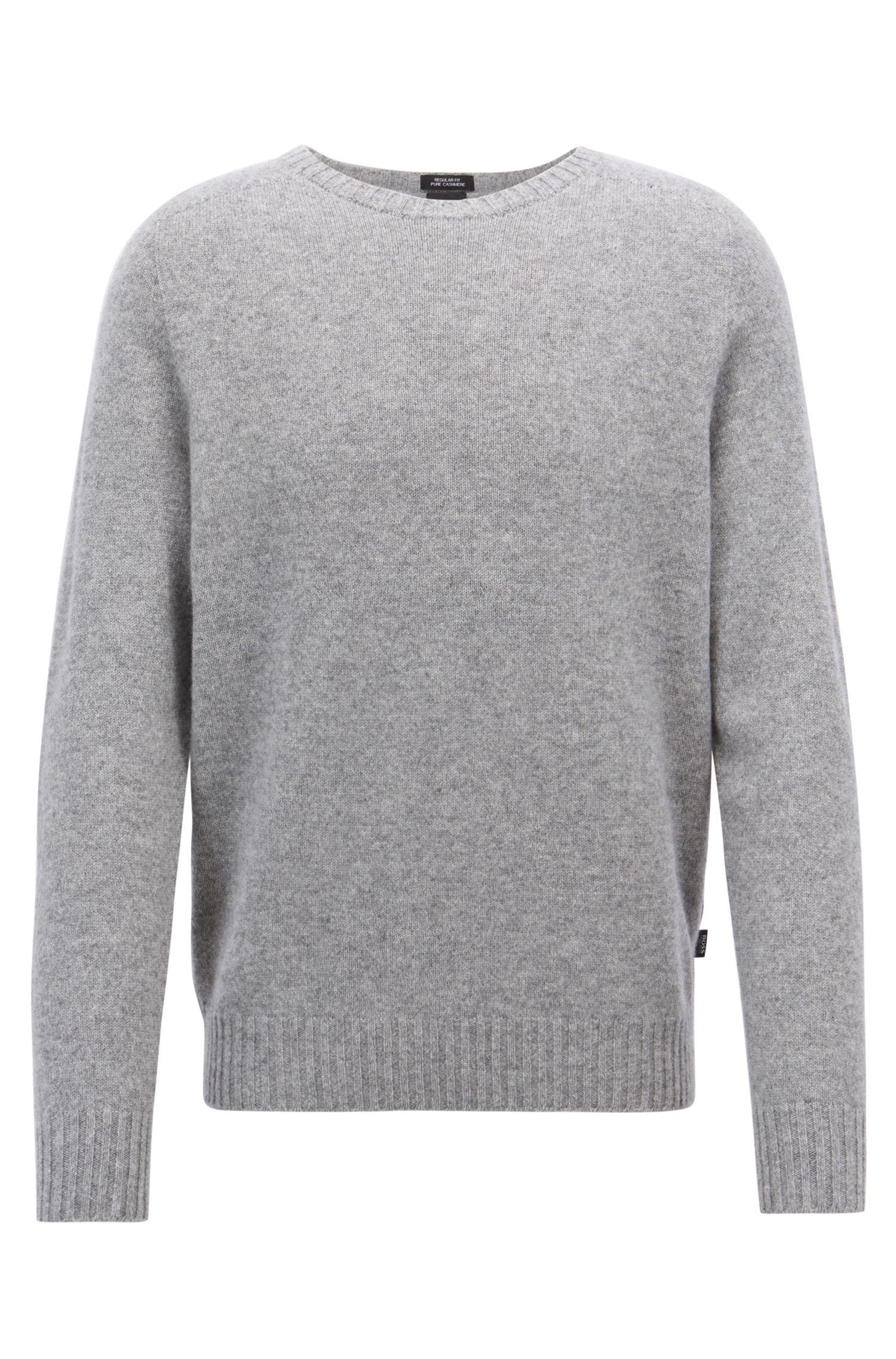 Cashmere sweater with seam-free design, Silver