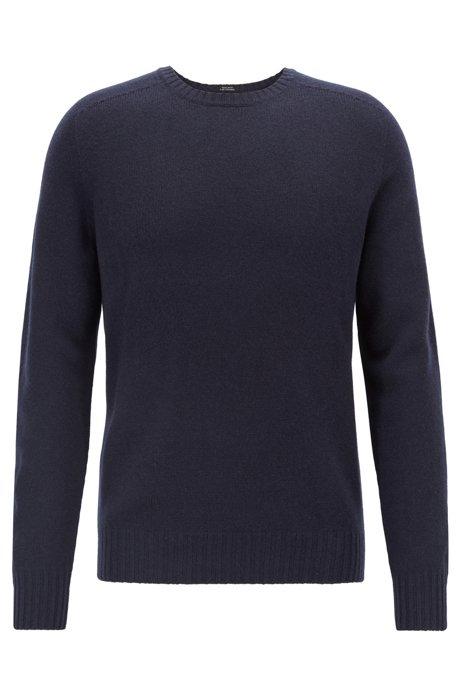 Cashmere sweater with seam-free design, Open Blue