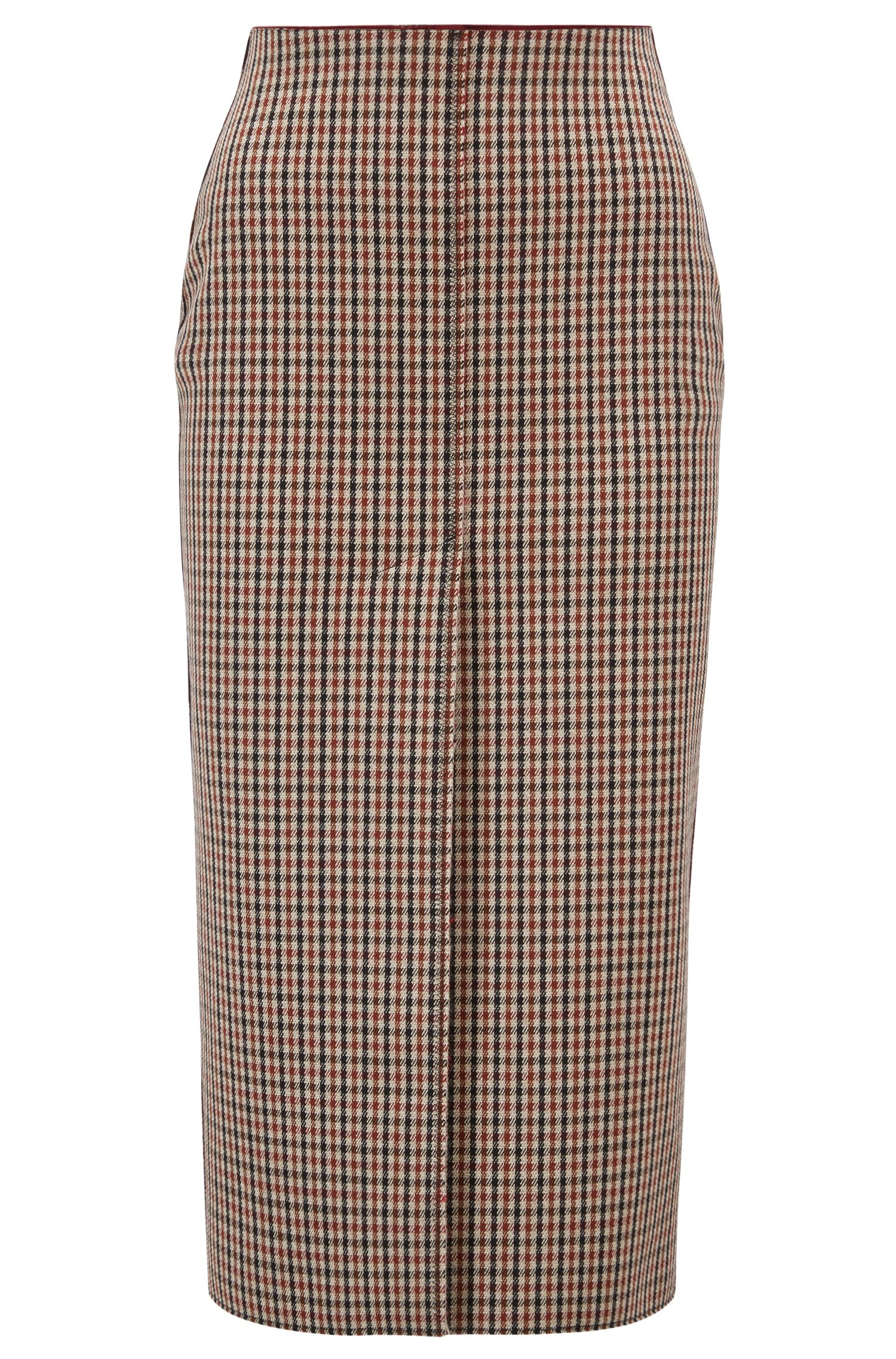 Made in Germany pencil skirt in a wool blend, Light Brown