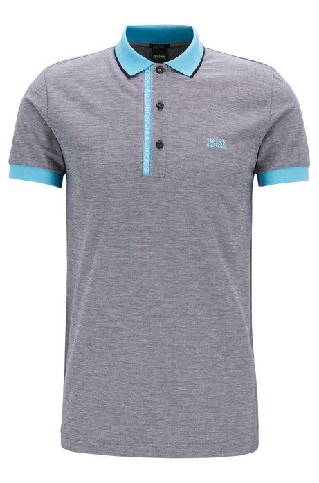 93bdca794b14 BOSS - Slim-fit polo shirt in Pima-cotton Oxford piqué