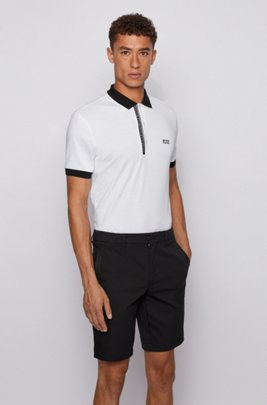 Slim-fit polo shirt in Pima-cotton Oxford piqué, White