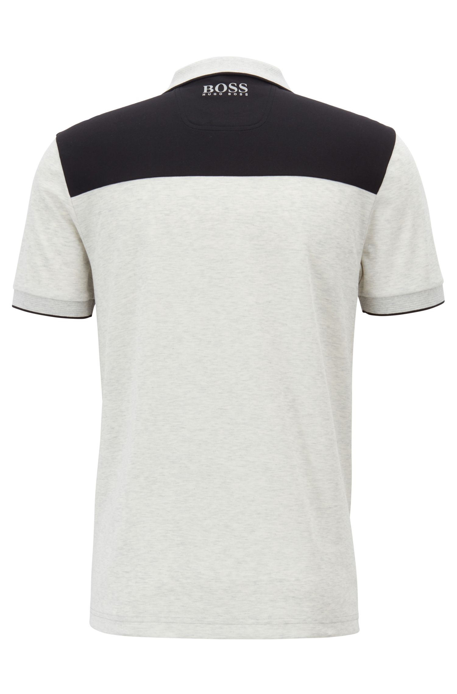 Slim-fit polo shirt with a water-repellent finish, Light Grey