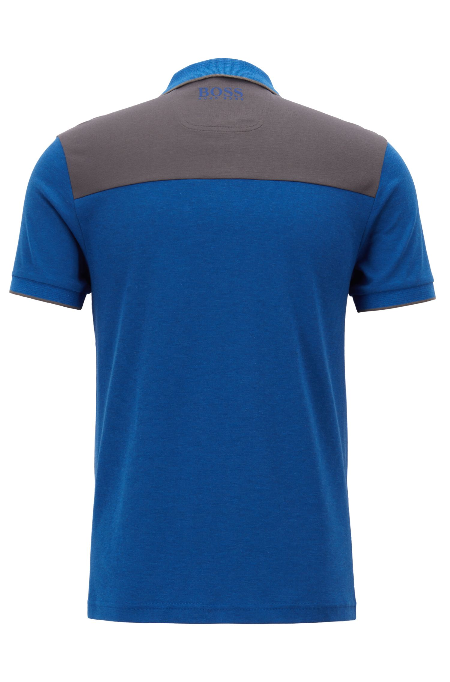 Slim-fit polo shirt with a water-repellent finish, Open Blue