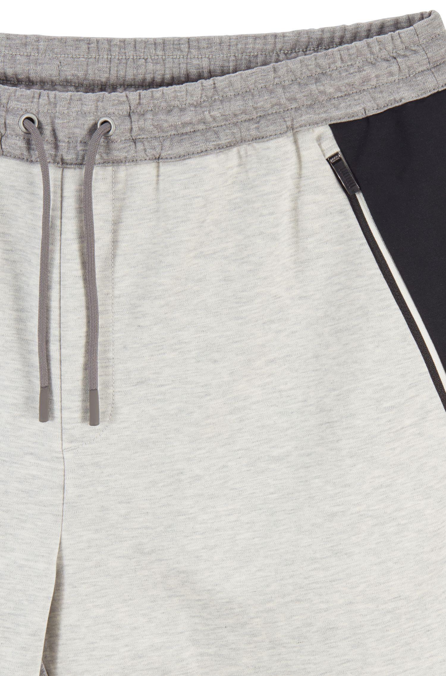 Water-repellent pants in moisture-wicking interlock fabric, Light Grey