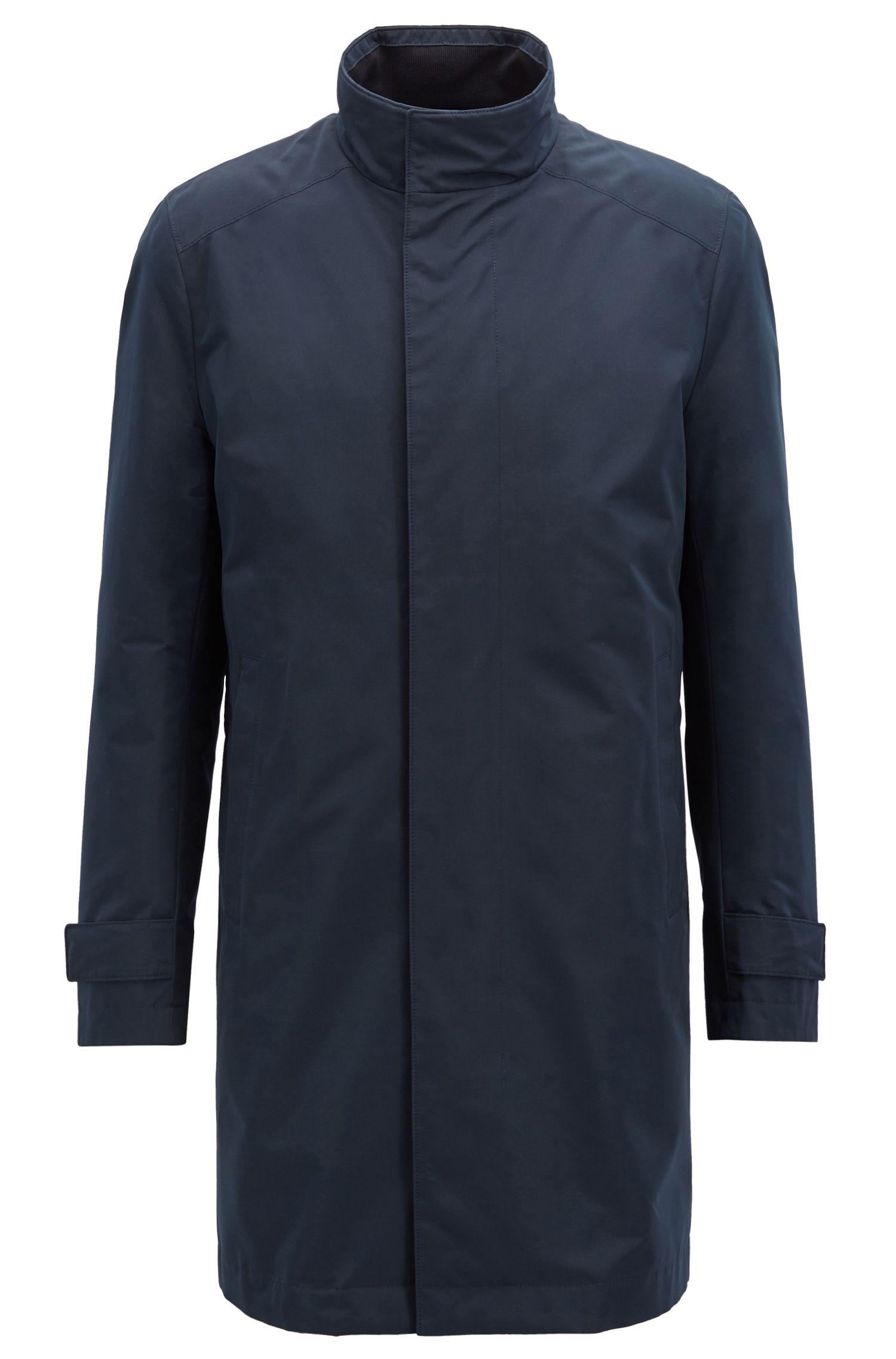 Regular-fit water-repellent coat with detachable body warmer, Open Blue