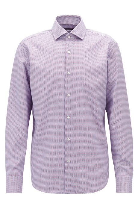 b07d5ed2d BOSS - Regular-fit shirt in two-tone dobby cotton