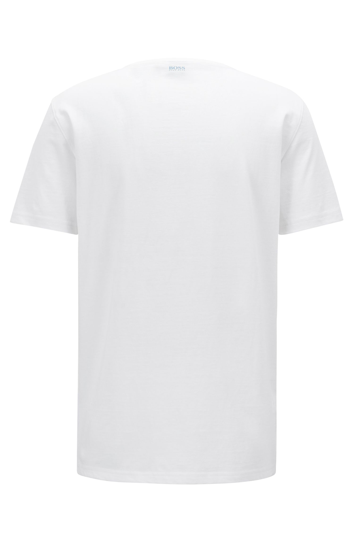 Regular-fit T-shirt in heavyweight cotton with photo print, White