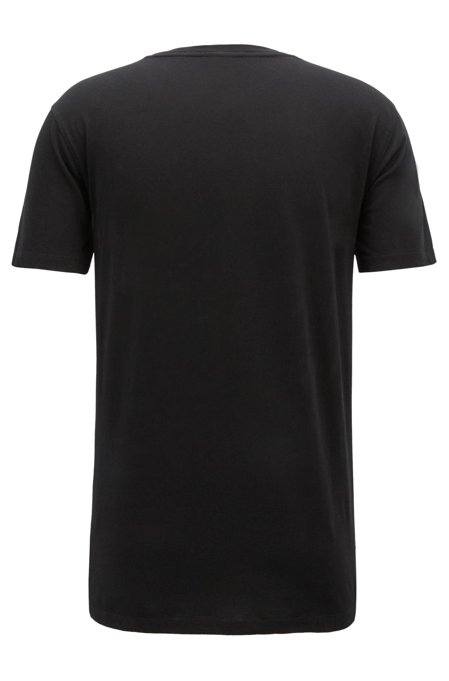 Digitally printed T-shirt in Pima cotton, Black