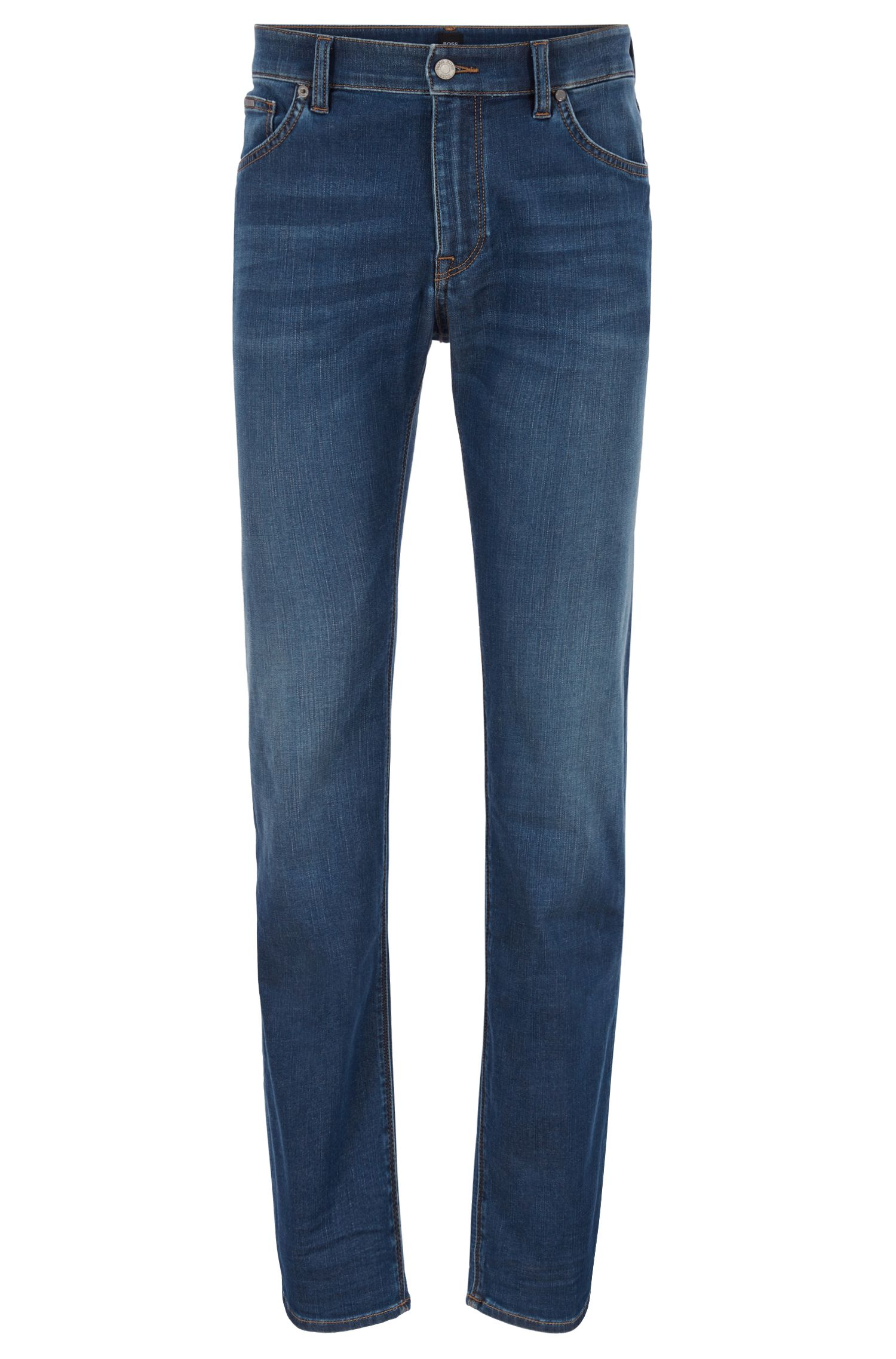 Regular-fit jeans in super-soft stretch denim, Blue