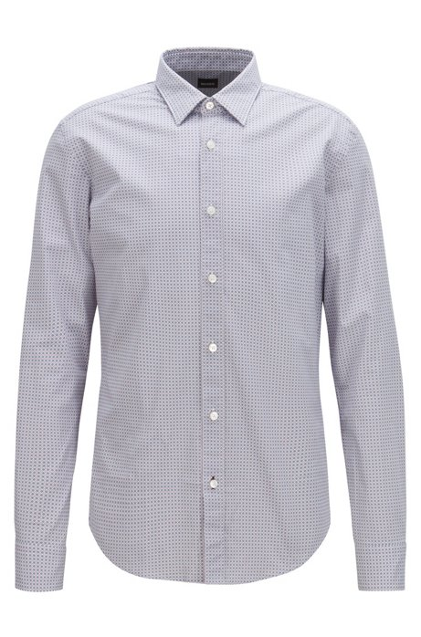 e64052bc Slim-fit shirt in stretch cotton with geometric print. Ronni - 50399792